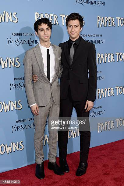 Alex Wolff and Nat Wolff attend the 'Paper Towns' New York Premiere at AMC Loews Lincoln Square on July 21 2015 in New York City