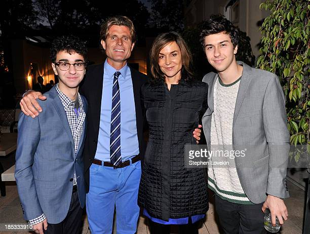 Alex Wolff Anthony Kennedy Shriver Founder and Chairman of Best Buddies International Polly Draper and Nat Wolff attend a reception hosted by Ted and...