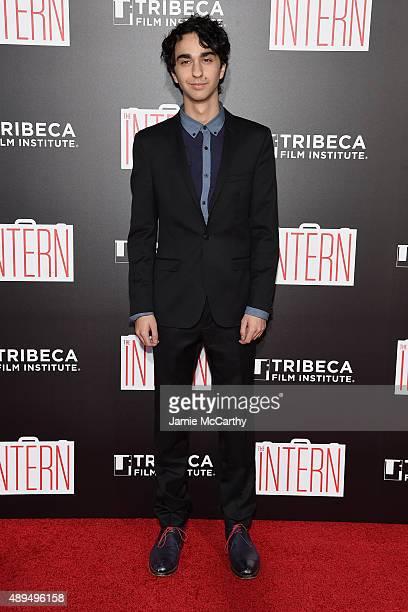 Alex Wolff attend 'The Intern' New York Premiere at Ziegfeld Theater on September 21 2015 in New York City