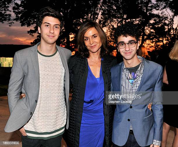 Alex Wolff Polly Draper and Nat Wolff attend a reception hosted by Ted and Lynn Leonsis celebrating the 2013 Audi Best Buddies Challenge Washington...
