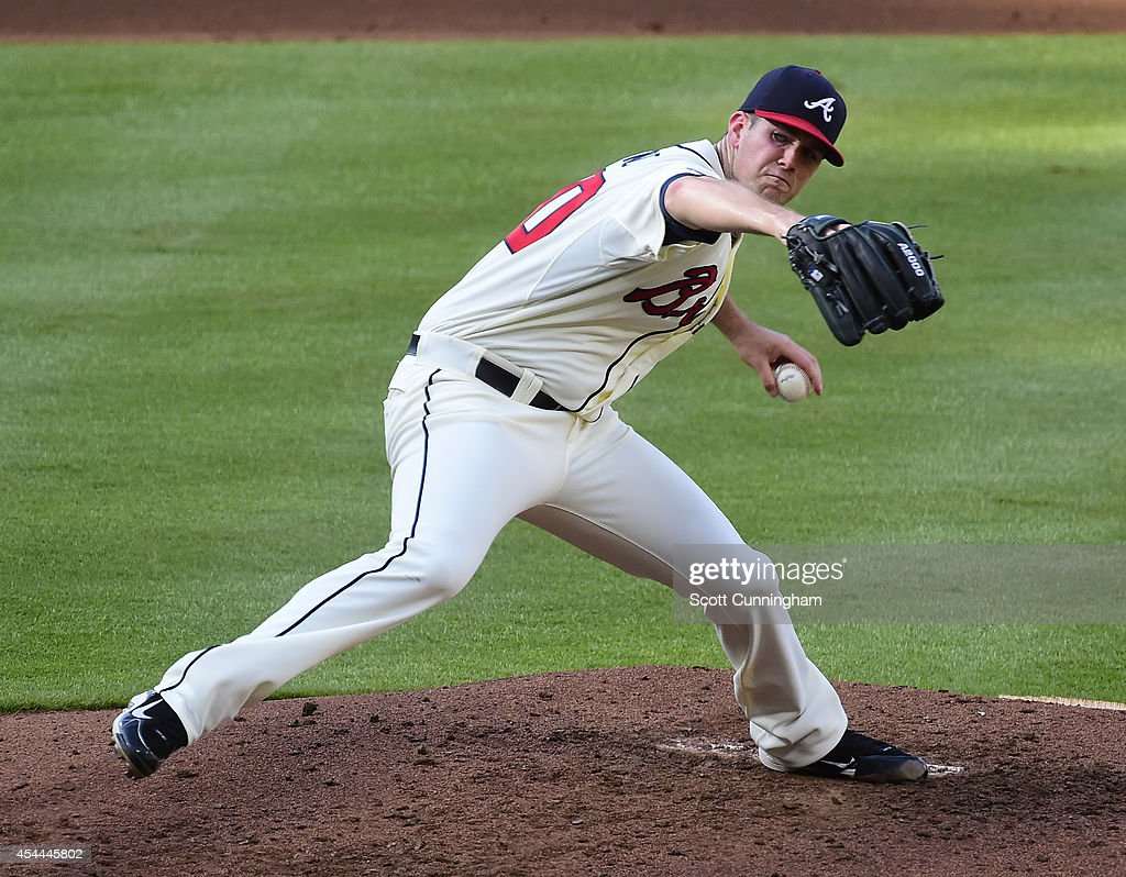 <a gi-track='captionPersonalityLinkClicked' href=/galleries/search?phrase=Alex+Wood+-+Baseball+Player&family=editorial&specificpeople=12544108 ng-click='$event.stopPropagation()'>Alex Wood</a> #40 of the Atlanta Braves throws a fourth inning pitch against the Miami Marlins at Turner Field on August 31, 2014 in Atlanta, Georgia.
