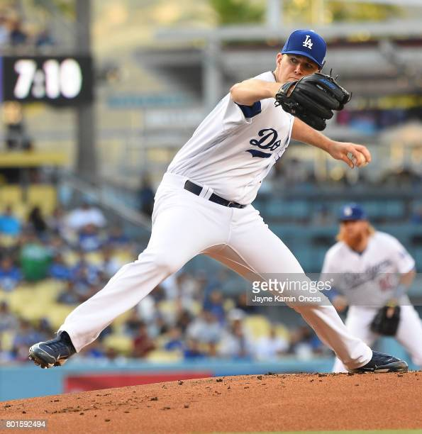 Alex Wood of the Los Angeles Dodgers in the game against the Colorado Rockies at Dodger Stadium on June 23 2017 in Los Angeles California