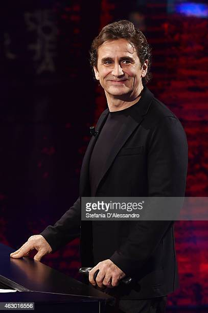Alex Zanardi attends 'Che Tempo Che Fa' TV Show on February 8 2015 in Milan Italy