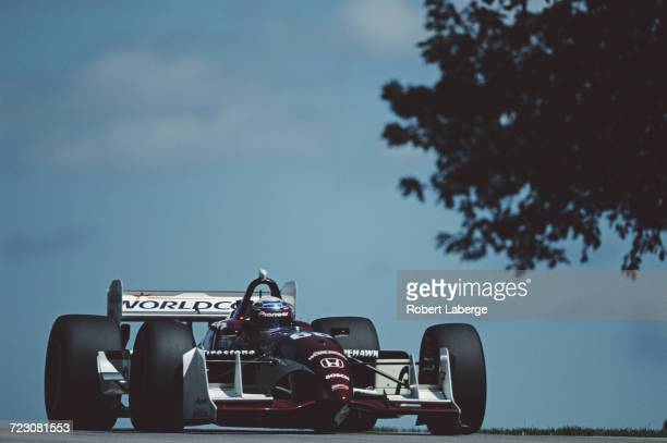 Alex Zanardi of Italy drives the Mo Nunn Racing Reynard 01i Honda during the Championship Auto Racing Teams 2001 FedEx Championship Series Motorola...