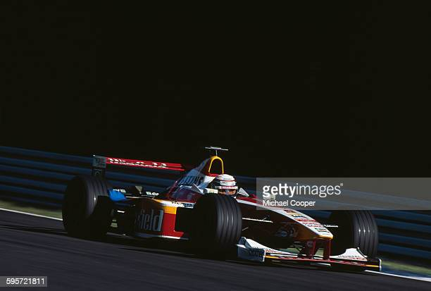 Alex Zanardi of Italy drives the Winfield Williams Williams FW21 Supertec V10 during the German Grand Prix on 1 August 1999 at the Hockenheimring...