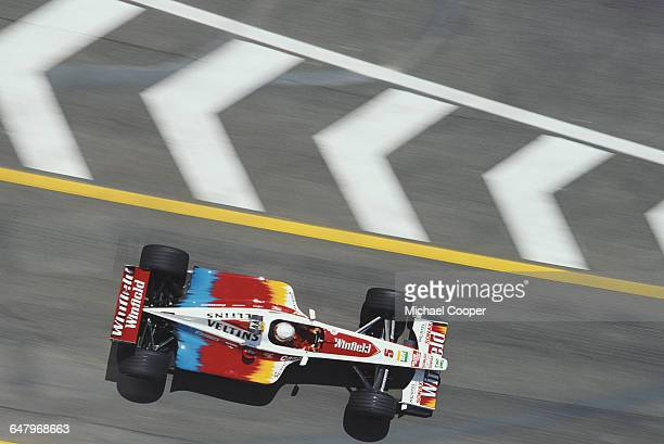 Alex Zanardi of Italy drives the Winfield Williams Williams FW21 Supertec V10 during practice for the San Marino Grand Prix on 1 May 1999 at the...
