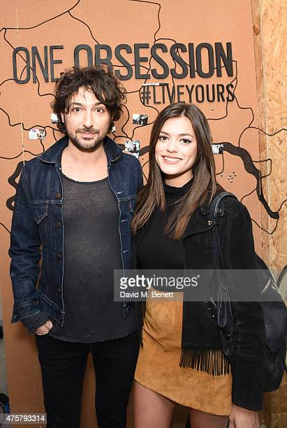Alex Zane and Guest attend the launch of OAKLEY IN RESIDENCE LONDON a popup cycling destination and hangout for creative collaboration on June 3 2015...