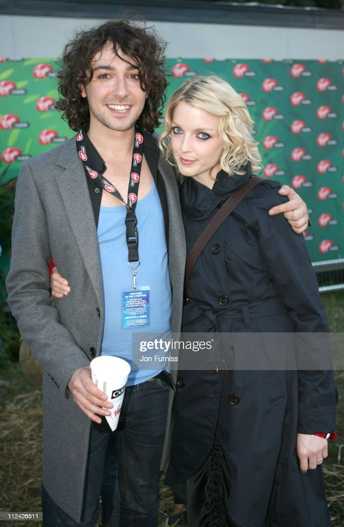 Alex Zane and Lauren Lavern in the Virgin Mobile Louder Lounge at the V Festival