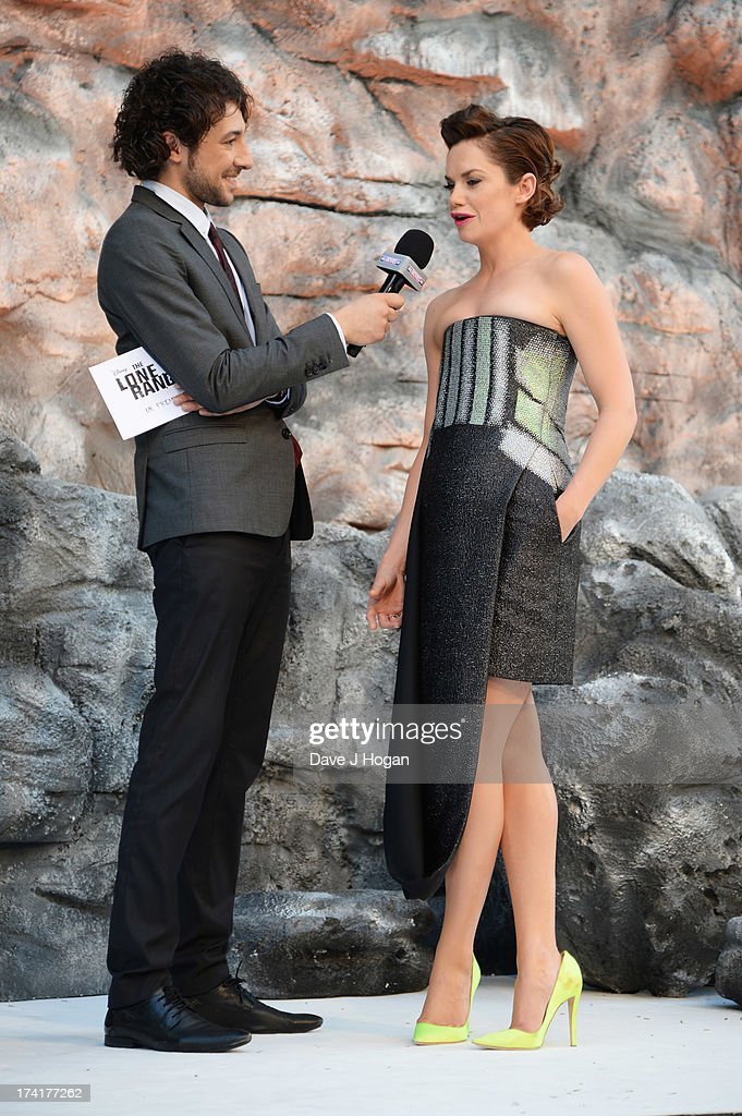 Alex Zane and Ruth Wilson attend the UK premiere of 'The Lone Ranger' at The Odeon Leicester Square on July 21, 2013 in London, England.