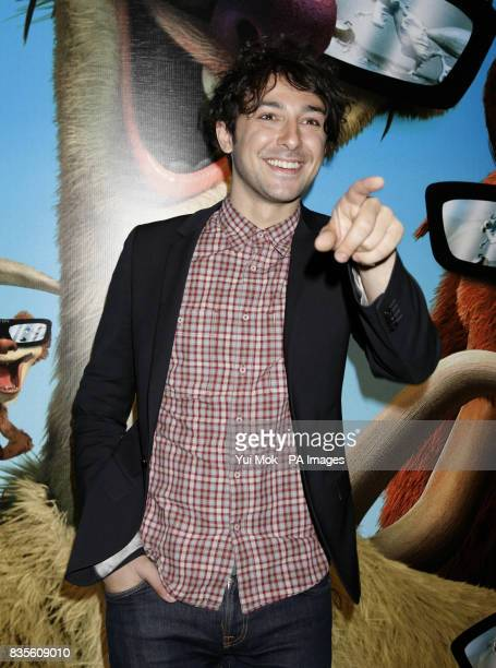 Alex Zane arriving for the gala screening of Ice Age 3 at The Empire Cinema in Leicester Square central London