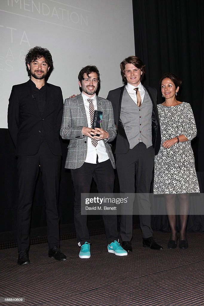 <a gi-track='captionPersonalityLinkClicked' href=/galleries/search?phrase=Alex+Zane&family=editorial&specificpeople=227464 ng-click='$event.stopPropagation()'>Alex Zane</a>, Dan Castella, Eugene Simon and Nicola Reed attend the reed.co.uk Short Film Awards 2014 at BAFTA on May 8, 2014 in London, England.
