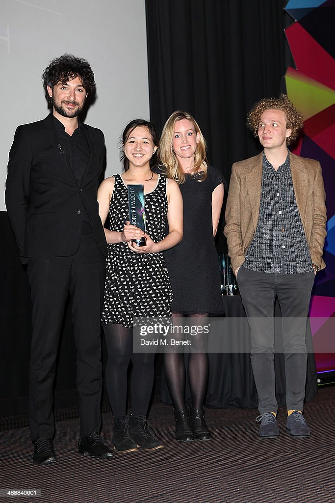 <a gi-track='captionPersonalityLinkClicked' href=/galleries/search?phrase=Alex+Zane&family=editorial&specificpeople=227464 ng-click='$event.stopPropagation()'>Alex Zane</a>, Shiona Penrake, Leonora Lonsdale and Jack Stanton attend the reed.co.uk Short Film Awards 2014 at BAFTA on May 8, 2014 in London, England.