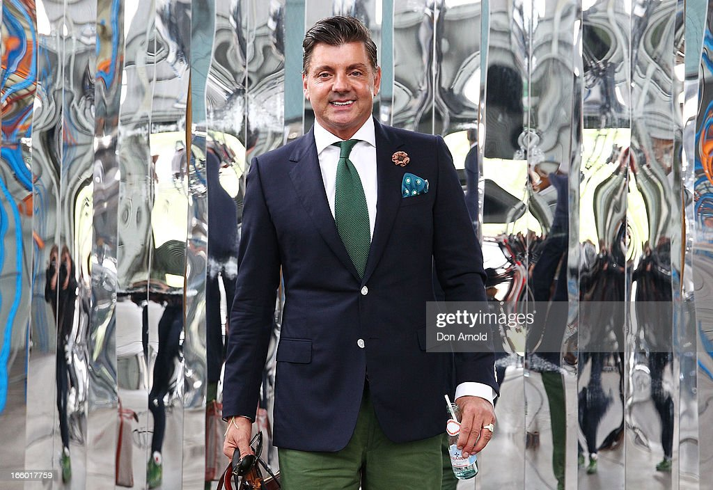 Alex Zobotto-Bentley wears a Harolds jacket, Opening Ceremony pants and D & G shoes during Mercedes-Benz Fashion Week Australia Spring/Summer 2013/14 at Carriageworks on April 8, 2013 in Sydney, Australia.