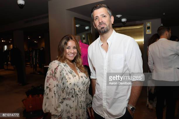 Alexa Cahill and Thomas Lecoqnjmj attend The Webster Celebrates The Launch Of M By Maor at The Webster on July 22 2017 in Miami Florida