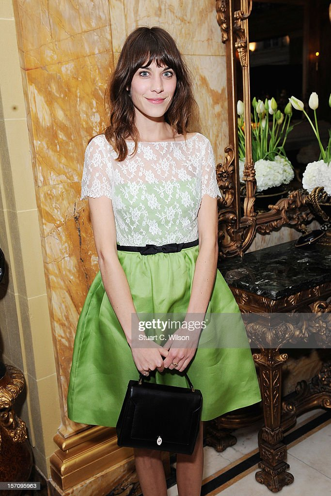 Alexa Cheung attends day two of the-miumiu-london, a temporary women's club at Cafe Royal on November 28, 2012 in London, England.