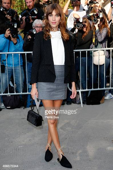Alexa Chun arrives at the Chanel show as part of the Paris Fashion Week Womenswear Spring/Summer 2015 on September 30 2014 in Paris France