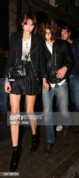 Alexa Chung and Alex Turner are seen on August 26 2009 in London England