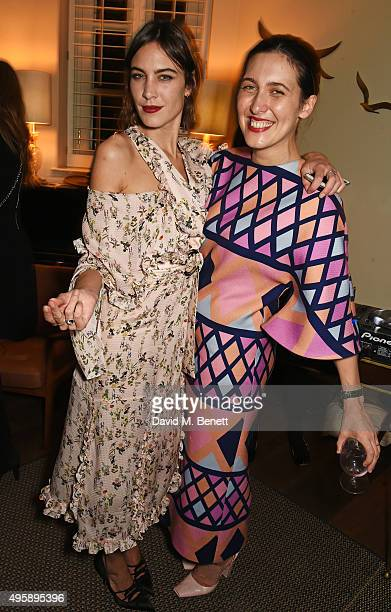 Alexa Chung and Emilia Wickstead attend a private dinner hosted by Alexa Chung to celebrate the launch of her app Villoid and her upcoming Elle...