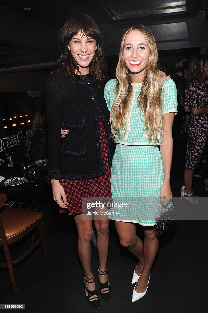<a gi-track='captionPersonalityLinkClicked' href=/galleries/search?phrase=Alexa+Chung&family=editorial&specificpeople=3141821 ng-click='$event.stopPropagation()'>Alexa Chung</a> and <a gi-track='captionPersonalityLinkClicked' href=/galleries/search?phrase=Harley+Viera-Newton&family=editorial&specificpeople=4322472 ng-click='$event.stopPropagation()'>Harley Viera-Newton</a> attends NYLON + Sanuk celebrate the October 'It Girl' issue with cover star <a gi-track='captionPersonalityLinkClicked' href=/galleries/search?phrase=Alexa+Chung&family=editorial&specificpeople=3141821 ng-click='$event.stopPropagation()'>Alexa Chung</a> at La Cenita on October 8, 2013 in New York City.