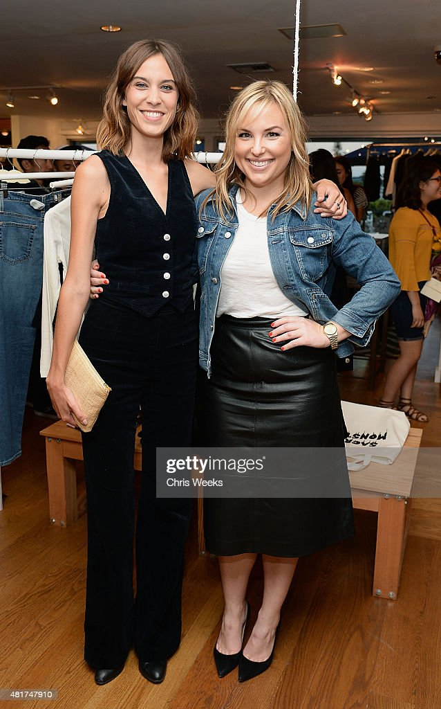 Alexa Chung and Hillary Kerr attend the launch of Alexa Chung X AG PA at Ron Herman on July 23, 2015 in Los Angeles, California.