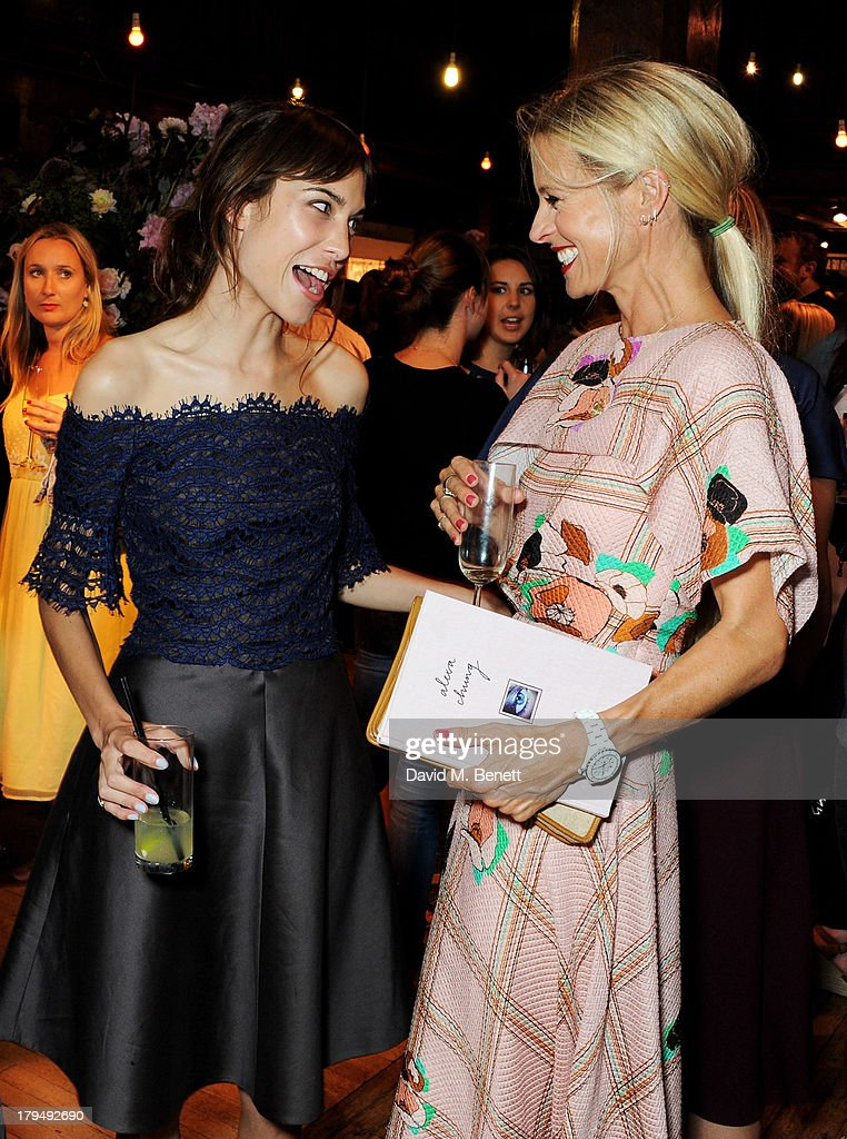 Alexa Chung (L) and Laura Bailey attend the launch of Alexa Chung's first book 'It' at Liberty on September 4, 2013 in London, England.