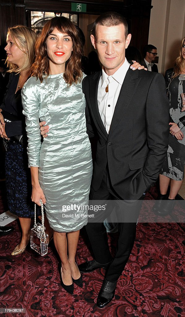 Alexa Chung (L) and Matt Smith arrive at the GQ Men of the Year awards at The Royal Opera House on September 3, 2013 in London, England.