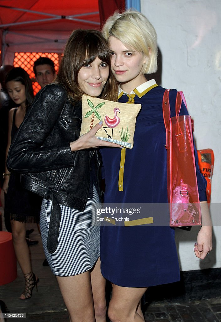 Alexa Chung and Pixie Geldof attend Tunnel of Love in aid of The British Heart Foundation at Proud Camden on May 29, 2012 in London, England.