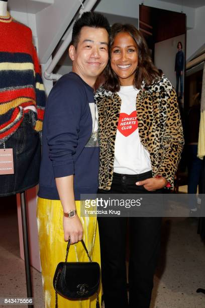 Alexa Chung and Rabea Schif attend the UZwei Store Opening on September 6 2017 in Hamburg Germany
