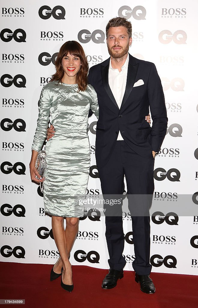 Alexa Chung and Rick Edwards attend the GQ Men of the Year awards at The Royal Opera House on September 3, 2013 in London, England.