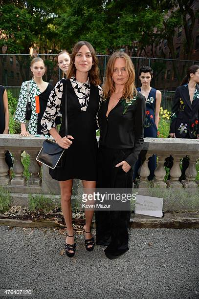 Alexa Chung and Stella McCartney and models attends the Stella McCartney Spring 2016 Resort Presentation on June 8 2015 in New York City