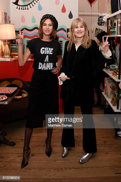 Alexa Chung and Tennessee Thomas pose together during The Deep End Club Collection launch hosted by Alexa Chung at The Deep End Club on February 14...