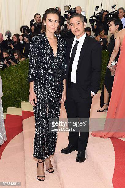 Alexa Chung and Thakoon Panichgul attend the 'Manus x Machina Fashion In An Age Of Technology' Costume Institute Gala at Metropolitan Museum of Art...