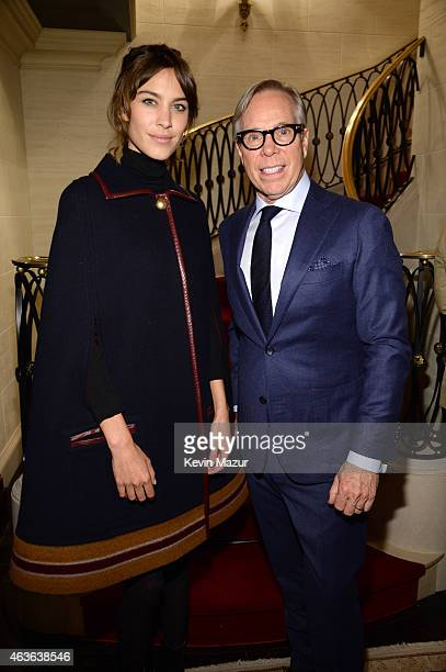 Alexa Chung and Tommy Hilfiger attend the Tommy Hilfiger 30th anniversary cocktail reception on February 16 2015 in New York City