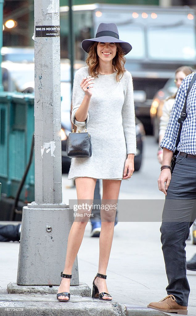 Alexa Chung arrives at FIT's The Future Of Fashion Runway Show at The Fashion Institute of Technology on May 1, 2014 in New York City.