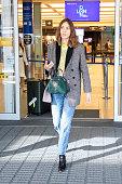 GBR: Alexa Chung At London City Airport