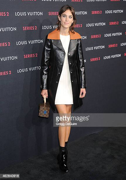 Alexa Chung arrives at Louis Vuitton 'Series 2' The Exhibition on February 5 2015 in Hollywood California
