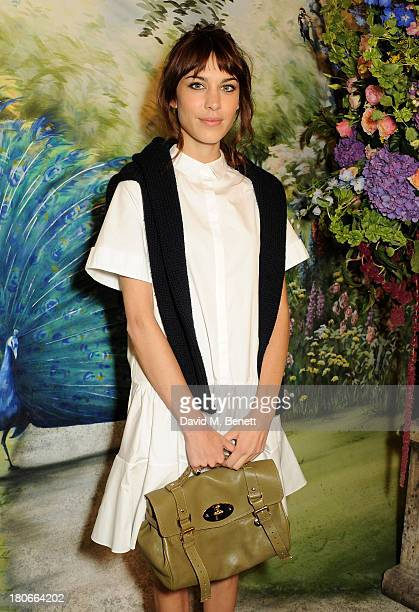 Alexa Chung arrives at Mulberry Spring/Summer 2014 show during London Fashion Week at Claridges Hotel on September 15 2013 in London England