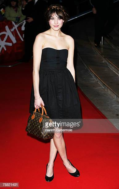Alexa Chung arrives at the BRIT Awards 2007 in association with MasterCard at Earls Court on February 14 2007 in London