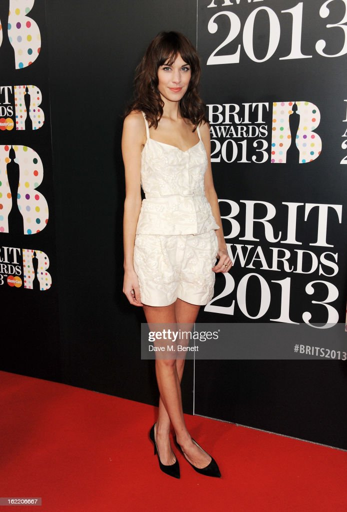 <a gi-track='captionPersonalityLinkClicked' href=/galleries/search?phrase=Alexa+Chung&family=editorial&specificpeople=3141821 ng-click='$event.stopPropagation()'>Alexa Chung</a> arrives at the BRIT Awards 2013 at the O2 Arena on February 20, 2013 in London, England.