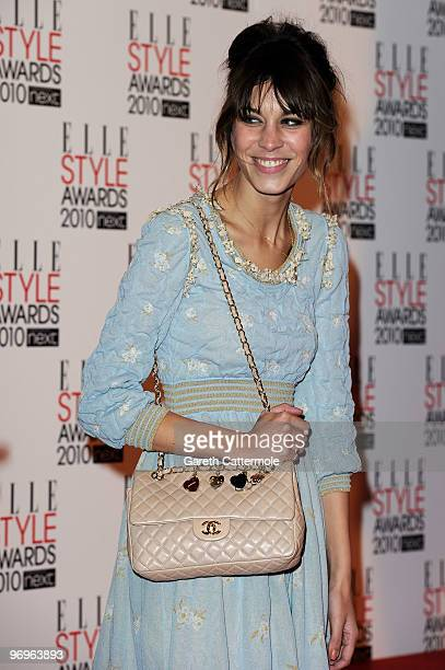 Alexa Chung arrives at The ELLE Style Awards 2010 at the Grand Connaught Rooms on February 22 2010 in London England
