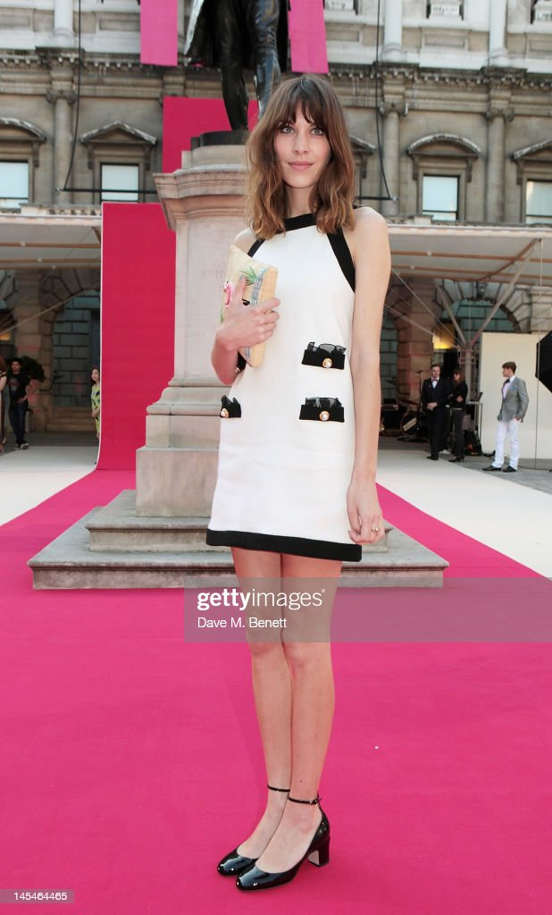 Alexa Chung arrives at the Royal Academy of Arts Summer Exhibition Preview Party at Royal Academy of Arts on May 30, 2012 in London, England.