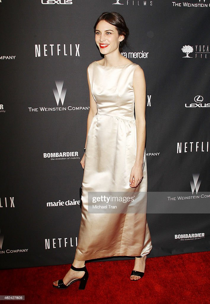 <a gi-track='captionPersonalityLinkClicked' href=/galleries/search?phrase=Alexa+Chung&family=editorial&specificpeople=3141821 ng-click='$event.stopPropagation()'>Alexa Chung</a> arrives at The Weinstein Company and NetFlix 2014 Golden Globe Awards after party held on January 12, 2014 in Beverly Hills, California.