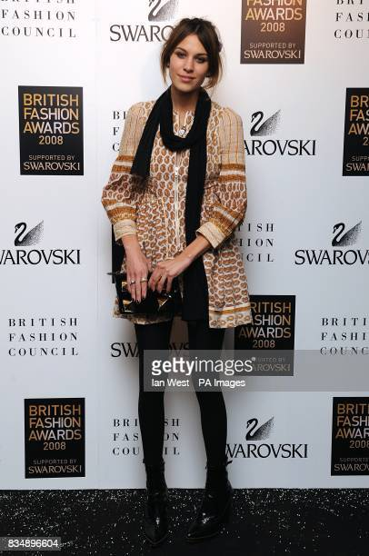Alexa Chung arrives for the 2008 British Fashion Awards at the Royal Horticultural Hall 80 Vincent Square London