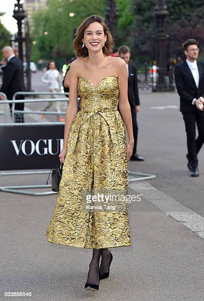 Alexa Chung arrives for the Gala to celebrate the Vogue 100 Festival at Kensington Gardens on May 23 2016 in London England