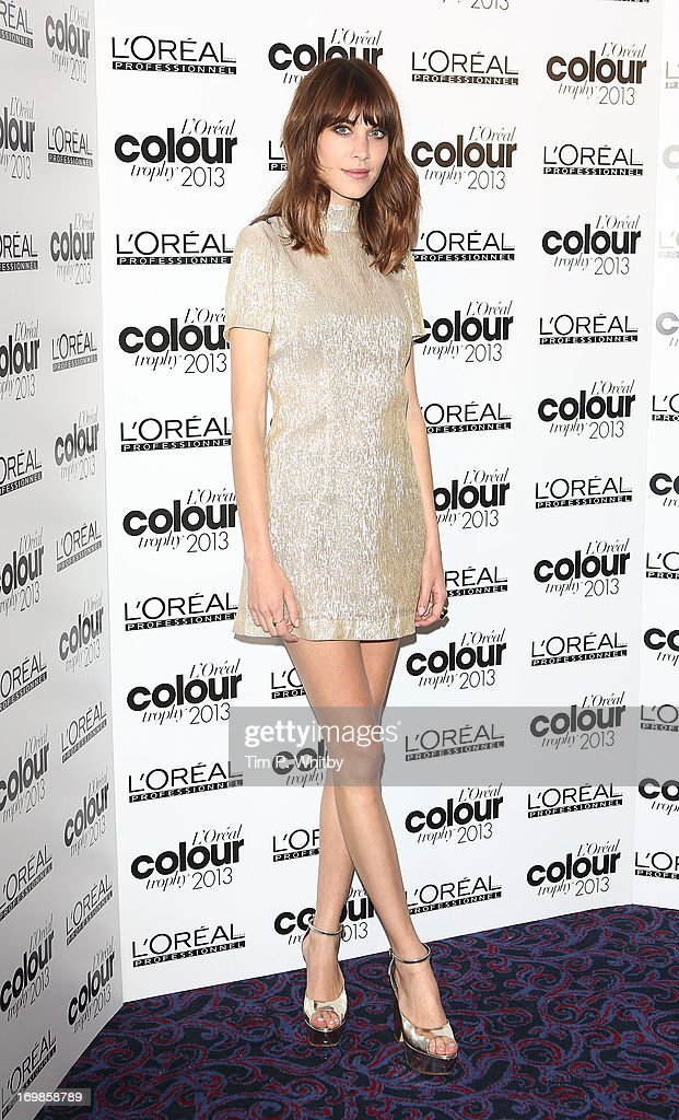 <a gi-track='captionPersonalityLinkClicked' href=/galleries/search?phrase=Alexa+Chung&family=editorial&specificpeople=3141821 ng-click='$event.stopPropagation()'>Alexa Chung</a> arrives the L'Oreal Colour Trophy Awards 2013 at Grosvenor House, on June 3, 2013 in London, England.