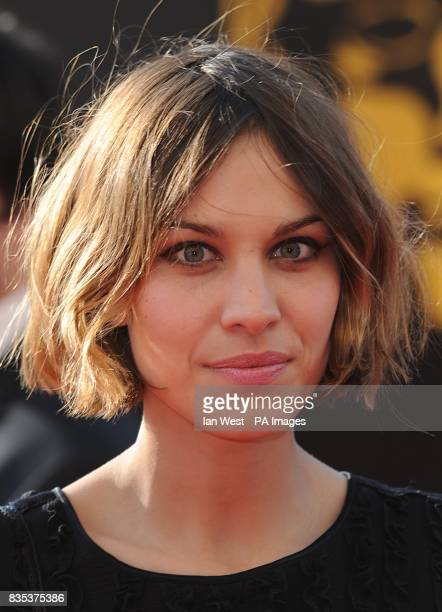 Alexa Chung arriving for the 2009 British Academy Film Awards at the Royal Opera House in Covent Garden central London