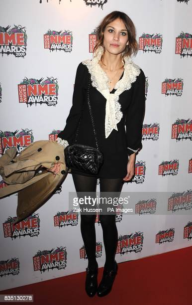 Alexa Chung arriving for the Shockwaves NME Awards 2009 at the 02 Academy Brixton London