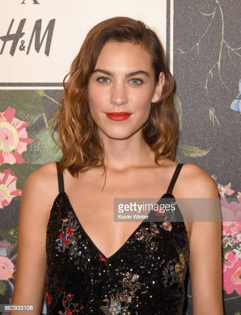 Alexa Chung at HM x ERDEM Runway Show Party at The Ebell Club of Los Angeles on October 18 2017 in Los Angeles California