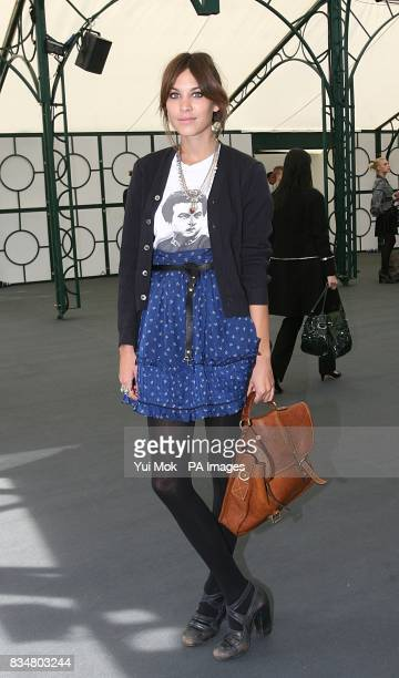 Alexa Chung at the show by Luella during London Fashion Week at the Greenhouse by the Serpentine Hyde Park London