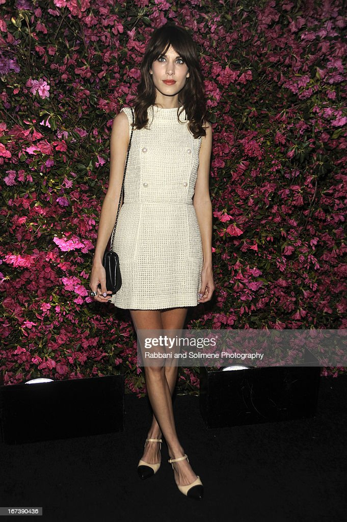 <a gi-track='captionPersonalityLinkClicked' href=/galleries/search?phrase=Alexa+Chung&family=editorial&specificpeople=3141821 ng-click='$event.stopPropagation()'>Alexa Chung</a> attends 8th Annual Chanel Artists Dinner during the 2013 Tribeca Film Festival at Odeon on April 24, 2013 in New York City.